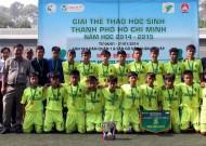 Giải bóng đá học sinh THCS TPHCM: Trường Nguyễn Thị Định đoạt chức vô địch