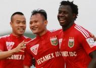 Kết thúc lượt đi V-League 2015: B.Bình Dương vô địch giai đoạn lượt đi