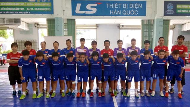 ĐT Futsal nữ Quốc gia chuẩn bị cho giải vô địch châu Á 2015: Quyết tâm tạo nên bất ngờ
