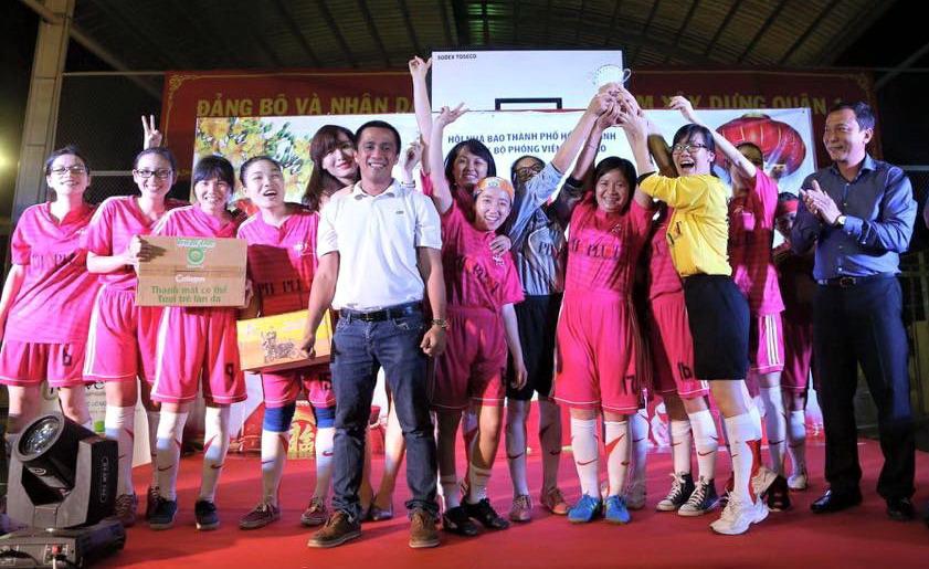 Khai mạc giải bóng đá Nữ Hội Nhà Báo TPHCM – Cúp Mondelẽz Kinh Đô 2016.