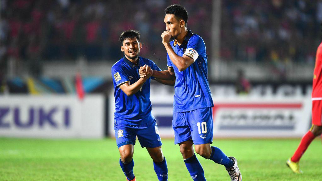 Thái Lan dễ dàng đánh bại Myanmar trên sân đối phương