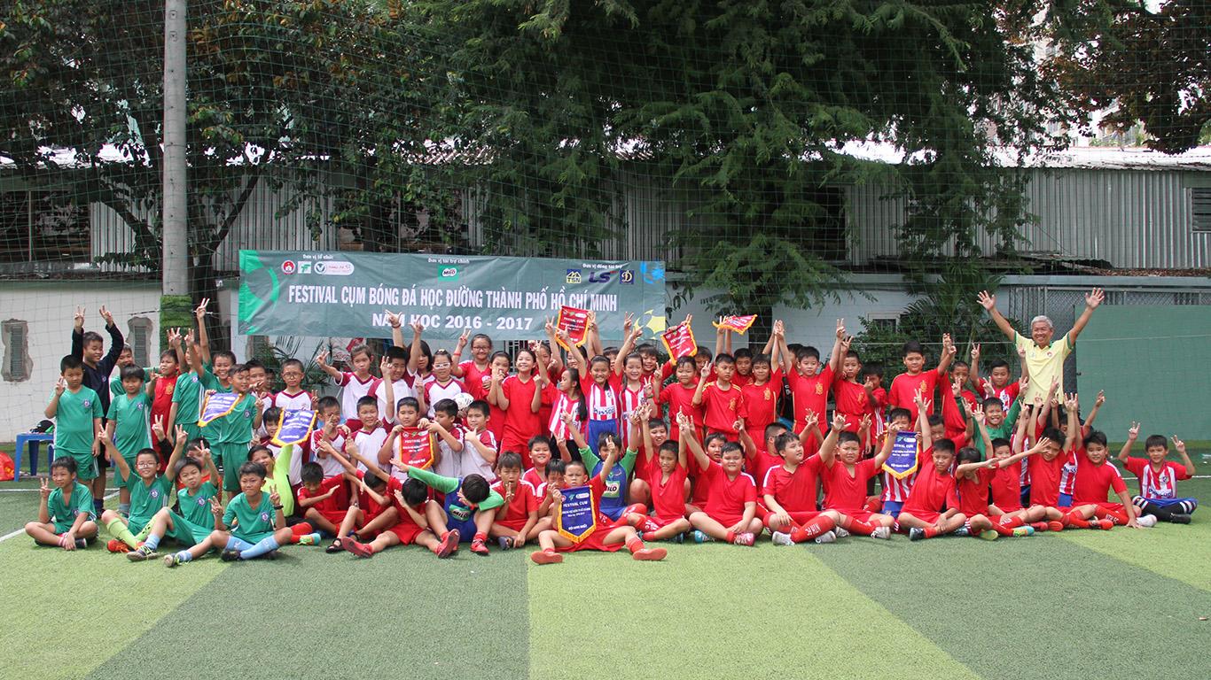 Festival bóng đá học đường khối Tiểu học Q.Gò Vấp, năm học 2016 - 2017