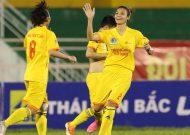 Phong Phú Hà Nam trở lại ngôi đầu giải bóng đá nữ VĐQG – cúp Thái Sơn Bắc 2017